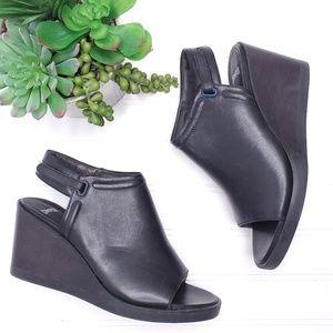 Camper Peep Toe Wedge Leather Sandals Sz 6